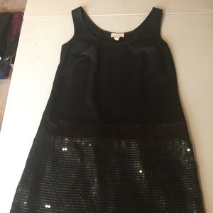 Ann Taylor Loft Black Sequin Dress